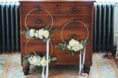 Bridesmaid hoops, design by Elizabeth Weddings