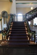 Staircase candles, styling by Elizabeth Weddings