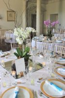 Reception ready at North Cadbury Court, Elizabeth Weddings