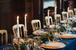 Navy and Gold styling, Elizabeth Weddings