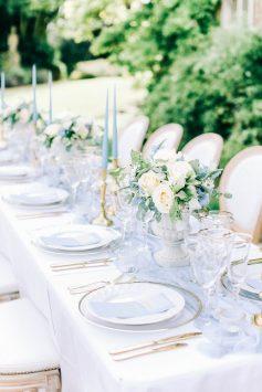 Elizabeth Weddings , Hamswell House styling and details | dusty blue wedding, Luxury